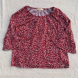 Michael Kors Floral Print Blouse Size Small NWT